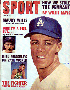 1963 Sport Magazine   -  Maury Wills  February