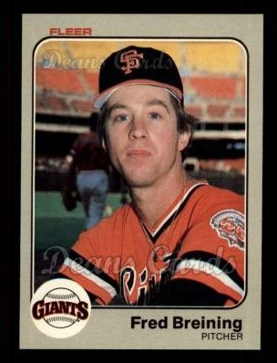 1983 Fleer #254  Fred Breining