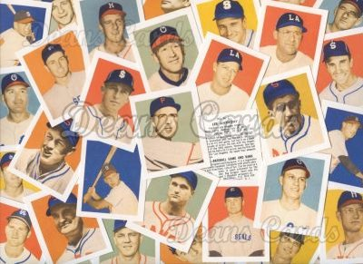 1949 Bowman PCL Reprint    Bowman Pacific Coast League Reprint Complete Set