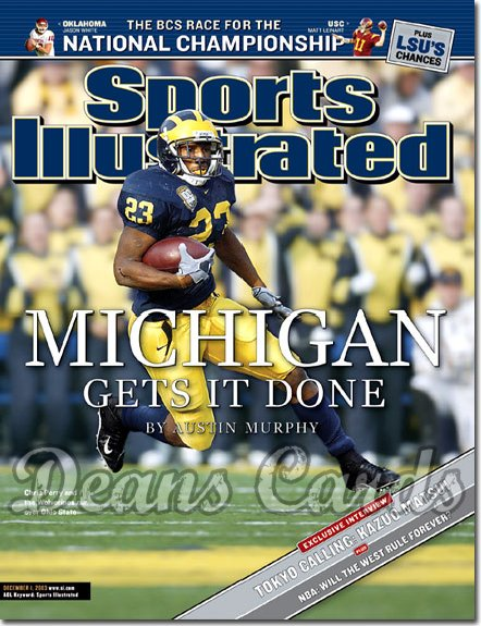 2003 Sports Illustrated   December 1  -  Chris Perry (Michigan Wolverines)