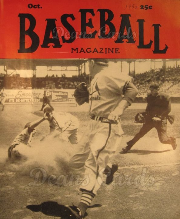 1950 Baseball Magazine    October