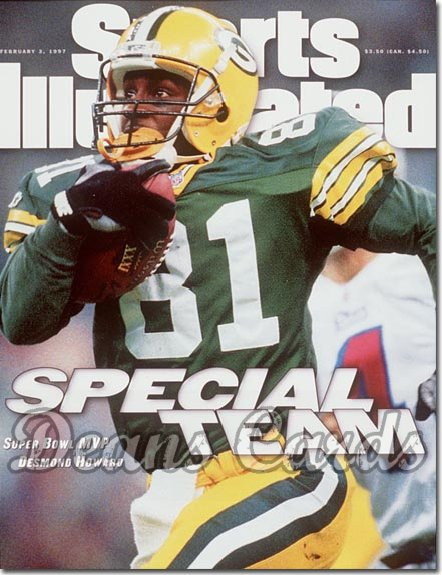 1997 Sports Illustrated - With Label   February 3  -  Desmond Howard (Green Bay Packers) Super Bowl XXXI