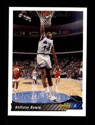 1992 Upper Deck #206  Anthony Bowie