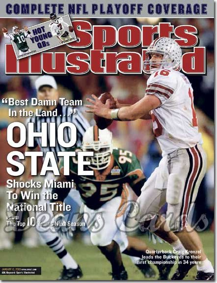 2003 Sports Illustrated   January 13  -  Craig Krenzel Buckeyes Jerome McDougle Hurricanes