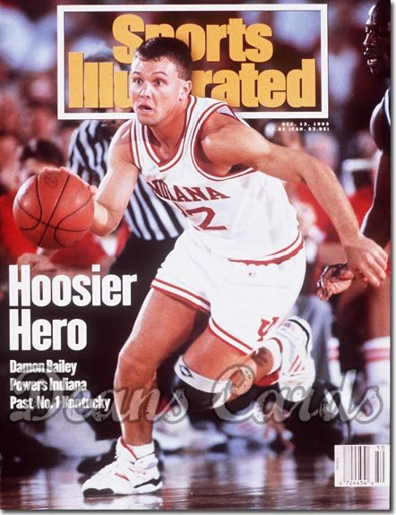1993 Sports Illustrated - With Label   December 13  -  Damon Bailey (Indiana Hoosiers)