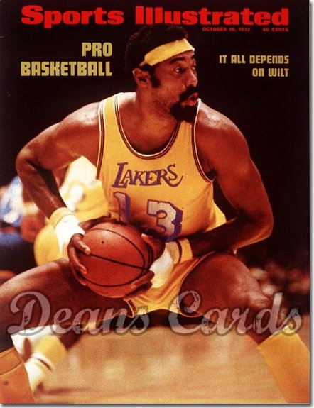 1972 Sports Illustrated - With Label   October 16  -  Wilt Chamberlain (Los Angeles Lakers)