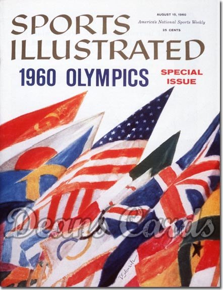 1960 Sports Illustrated - With Label   August 15  -  Olympic Preview Issue