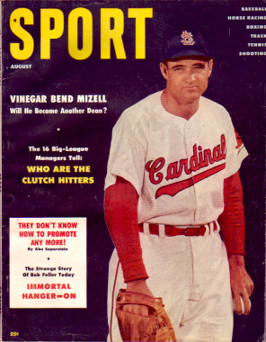 1956 Sport Magazine   -  Vinegar Bend Mizell  August