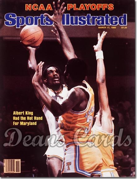 1980 Sports Illustrated - With Label   March 17  -  Albert King (Maryland Terrapins)