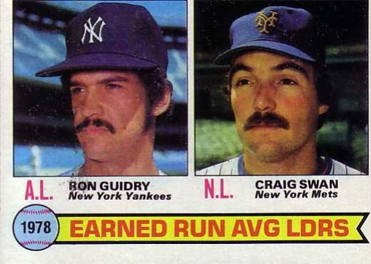 1979 Topps #7   -  Ron Guidry / Craig Swan ERA Leaders