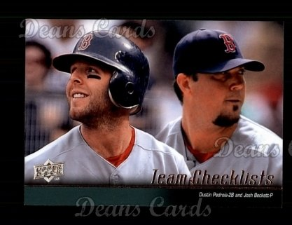 2010 Upper Deck #574   -  Dustin Pedroia / Josh Beckett Red Sox Team Checklist