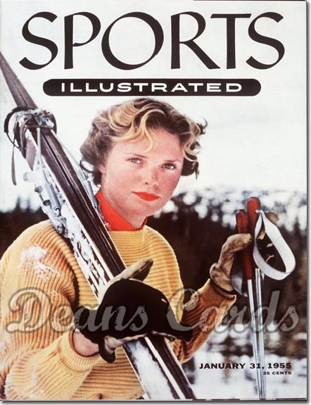 1955 Sports Illustrated - With Label   January 31  -  Jill Kilmont Skiing