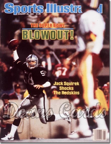 1984 Sports Illustrated - With Label   January 30  -  Jack Squirek (Los Angeles Raiders) (Super Bowl XVIII)