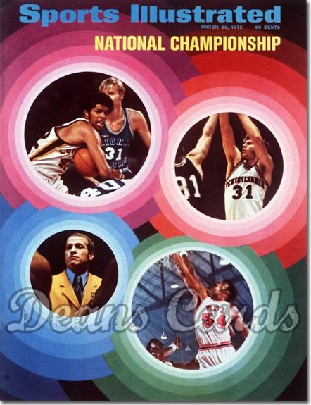 1972 Sports Illustrated - With Label   March 20  -  NCAA Final Four (UCLA Bruins)