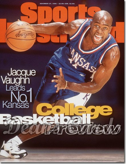 1995 Sports Illustrated - With Label   November 27  -  Jacque Vaughn Kansas Jayhawks