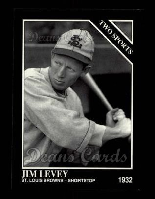 1992 Conlon #395   -  Jim Levey Two Sports