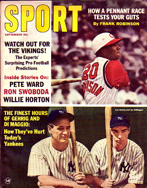 1965 Sport Magazine   -  Lou Gehrig / Joe DiMaggio  September