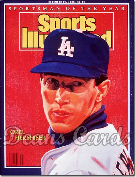 1988 Sports Illustrated - With Label   December 19  -  Orel Hershiser (LA Dodgers) (Sportsman of the Year)