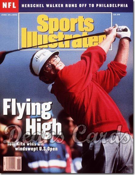 1992 Sports Illustrated - With Label   June 29  -  Tom Kite