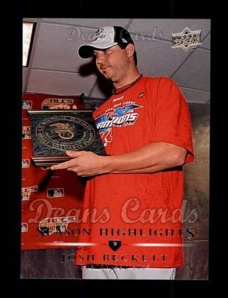 2008 Upper Deck #744   -  Josh Beckett Season Highlights