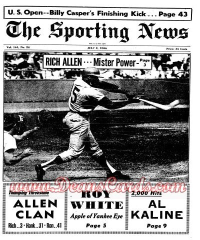 1966 The Sporting News   -  Rich Allen July 2  - Dick Allen / Brooks Robinson