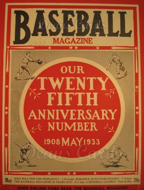 1933 Baseball Magazine    May