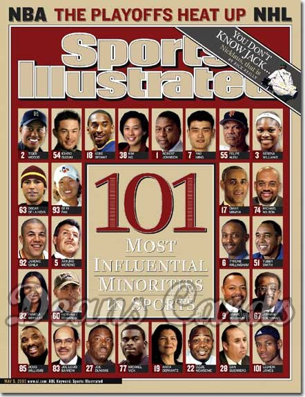 2003 Sports Illustrated - With Label   May 5  -  Influential Minorities in Sports