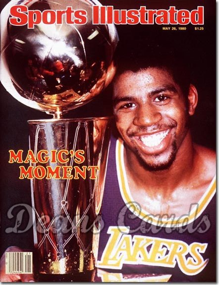 1980 Sports Illustrated - With Label   May 26  -  Magic Johnson (Los Angeles)