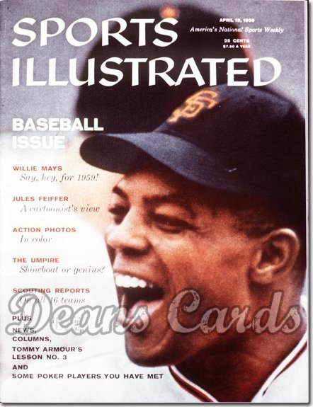1959 Sports Illustrated   April 13  -  Willie Mays San Francisco Giants