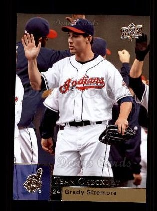 2009 Upper Deck #492   -  Grady Sizemore Indians Team Checklist
