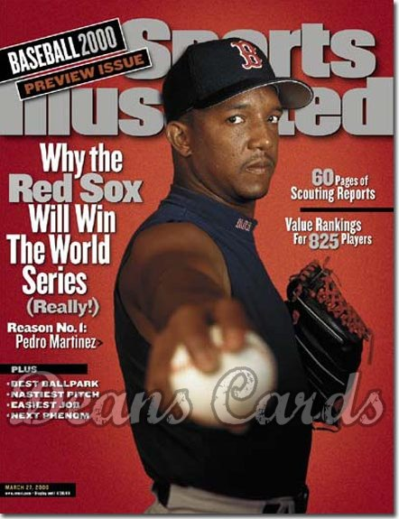 2000 Sports Illustrated   March 27  -  Pedro Martinez Boston Red Sox Baseball Issue