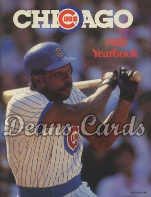 1988 Chicago Cubs Yearbook - Andre Dawson