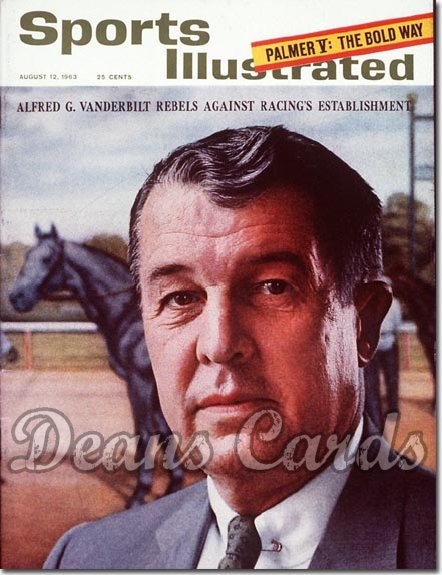 1963 Sports Illustrated - With Label   August 12  -  Alfred Vanderbilt