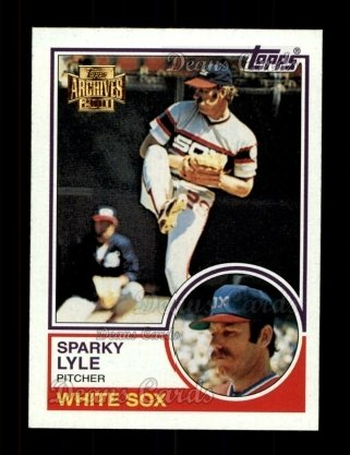 2001 Topps Archives #384   -  Sparky Lyle 83 Topps