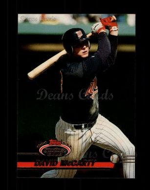 1993 Topps Stadium Club #569  David McCarty