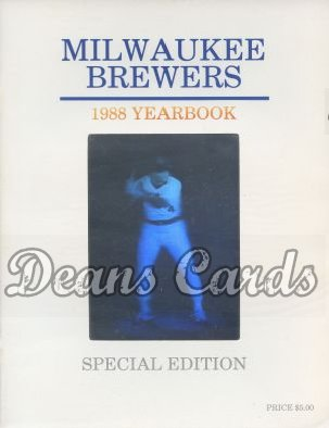 1988 Milwaukee Brewers Yearbook - Paul Molitor hologram