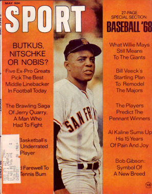1968 Sport Magazine   -  Willie Mays  May