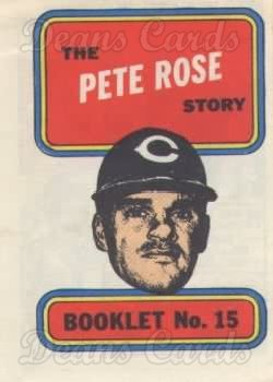 1970 Topps Booklets #15  Pete Rose