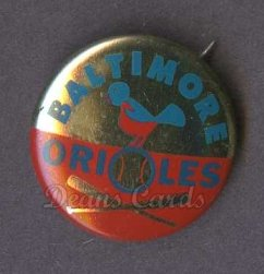 1964 Cranes Potato Chip Pin #1   Baltimore Orioles