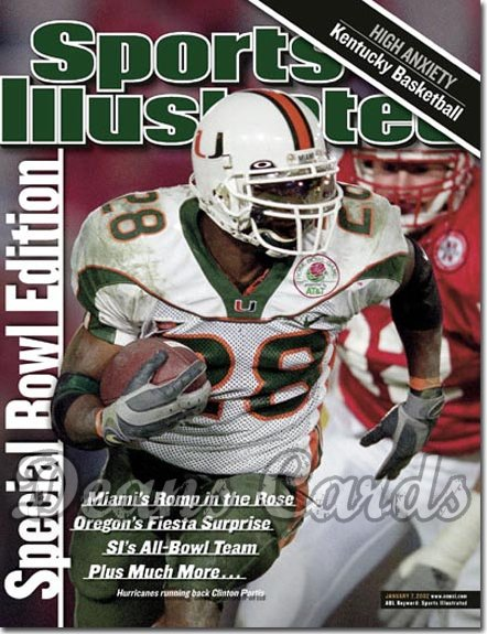 2002 Sports Illustrated   January 7  -  Clinton Portis Miami Hurricanes