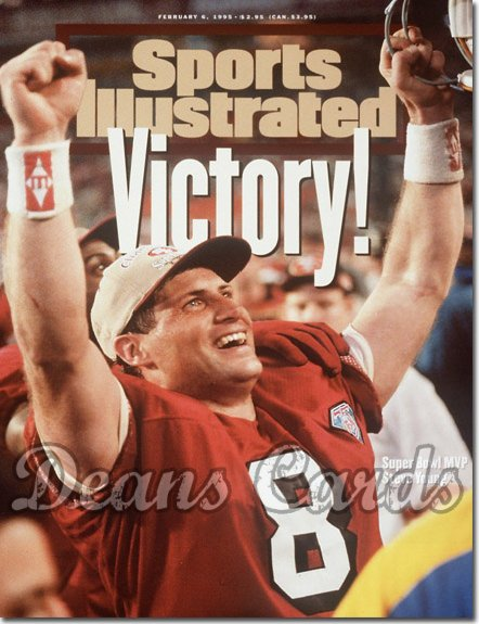 1995 Sports Illustrated - With Label   February 6  -  Steve Young (SF) (Super Bowl XXIX)