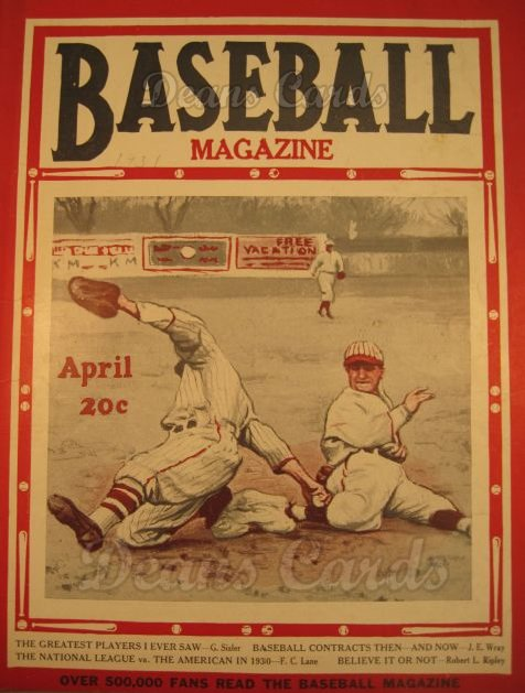 1931 Baseball Magazine    April