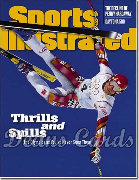 1998 Sports Illustrated - No Label   February 23  -  Hermann Maier Skiing