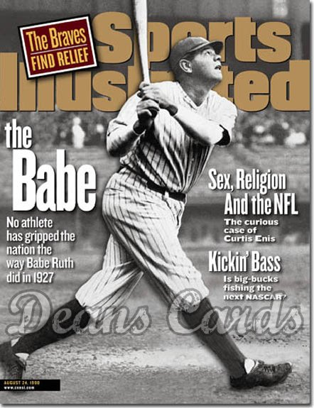 1998 Sports Illustrated   August 24  -  Babe Ruth (NY)