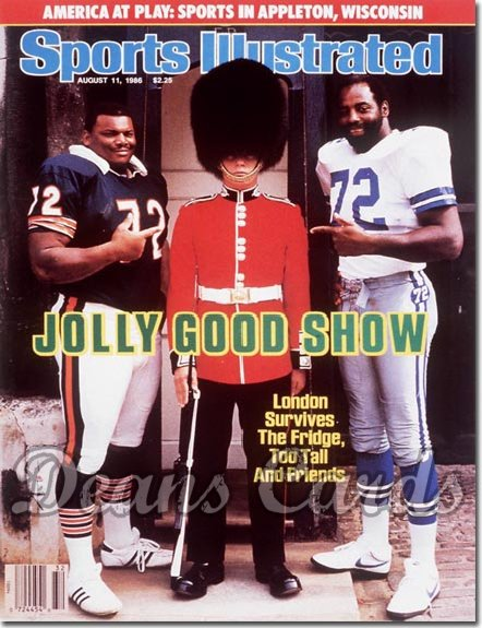 1986 Sports Illustrated - With Label   August 11  -  William Perry (Chicago Bears) & Ed Jones (Dallas Cowboys)