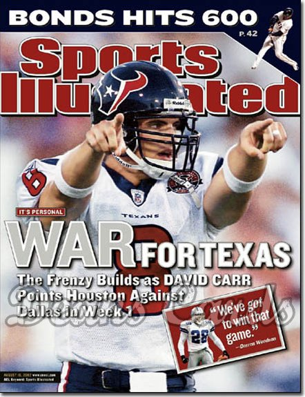 2002 Sports Illustrated   August 19  -  David Carr Houston Texans
