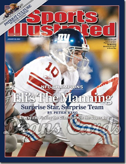 2008 Sports Illustrated   January 28  -  Eli Manning