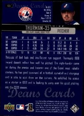 2000 Upper Deck #434  Mike Thurman
