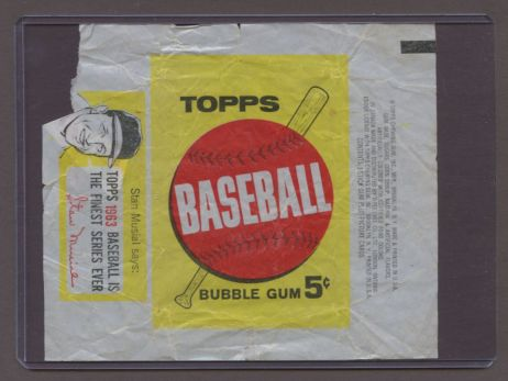 1963 Topps      Baseball Wax Wrapper (Musial Drawing)