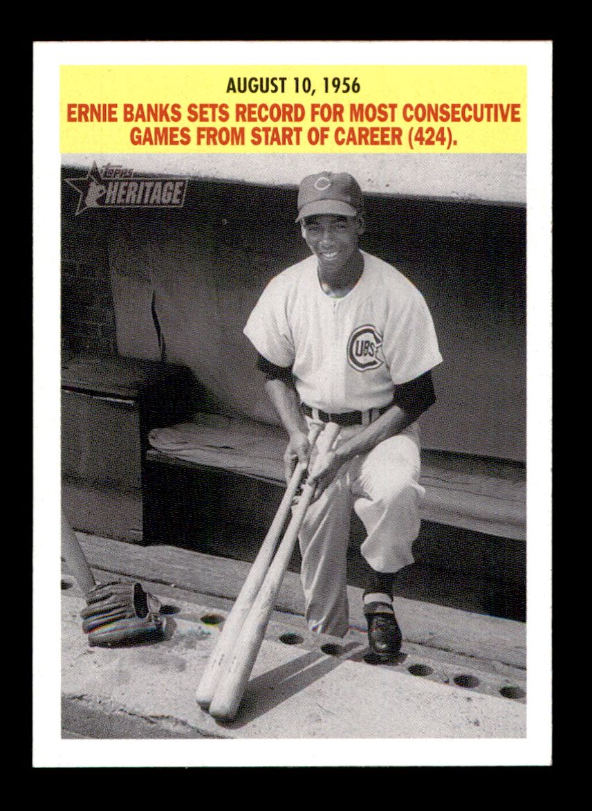 2005 Topps Heritage Flashbacks #5 F Ernie Banks